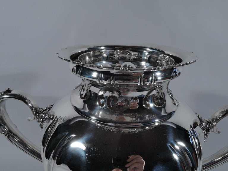 Edwardian Antique Tiffany Sterling Silver Heavy Classical Trophy Cup For Sale