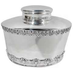 Antique Tiffany & Co. Sterling Silver Tea Caddy in English King Pattern