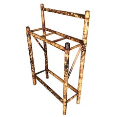Restored Antique Tiger Bamboo Umbrella Stand