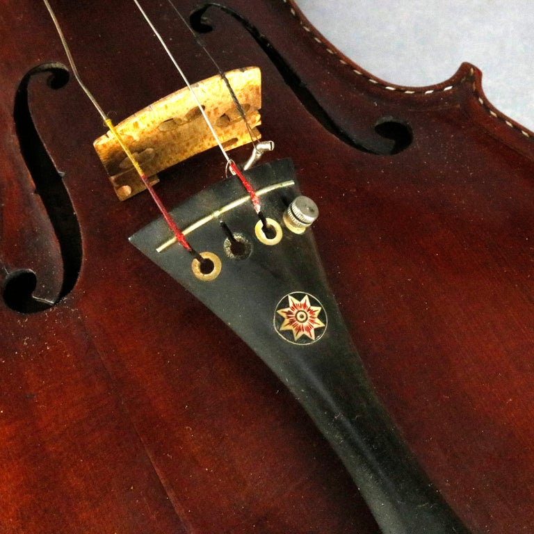 Antique Tiger Maple Violin with Case, Vincent Panormo, circa 1850 For Sale 5