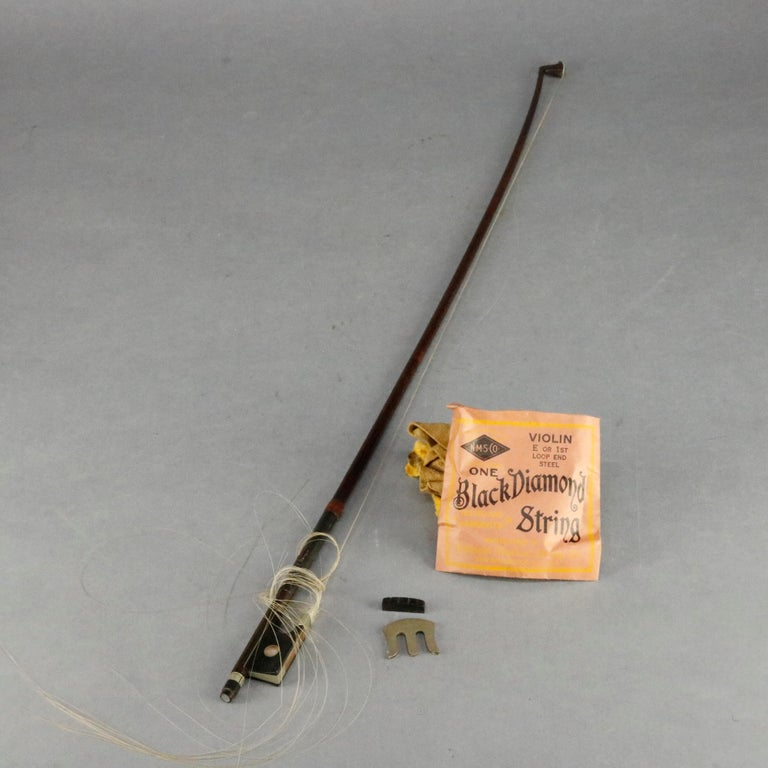 19th Century Antique Tiger Maple Violin with Case, Vincent Panormo, circa 1850 For Sale