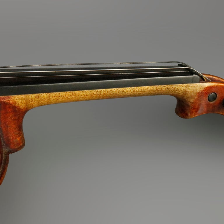 Antique Tiger Maple Violin with Case, Vincent Panormo, circa 1850 For Sale 2