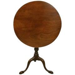 Antique Tilt-Top Mahogany Tripod Table