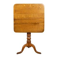 Antique Tilt-Top Table, English, Victorian, Oak, Side, 19th Century, circa 1870