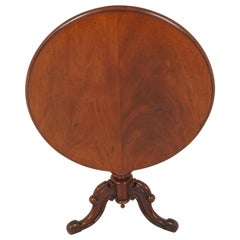 Antique Tilt-Top Table, Victorian Walnut Breakfast Table, Scotland 1880, B1915