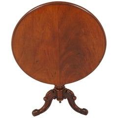 Antique Tilt-Top Table, Victorian Walnut Breakfast Table, Scotland 1880, B1915