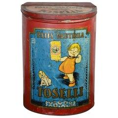 Antique Tin for Pasta Toselli, Italy, Belgium