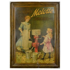 Antique Tin Sign Cream Separator Melotte Belgium by National Works Smethwick