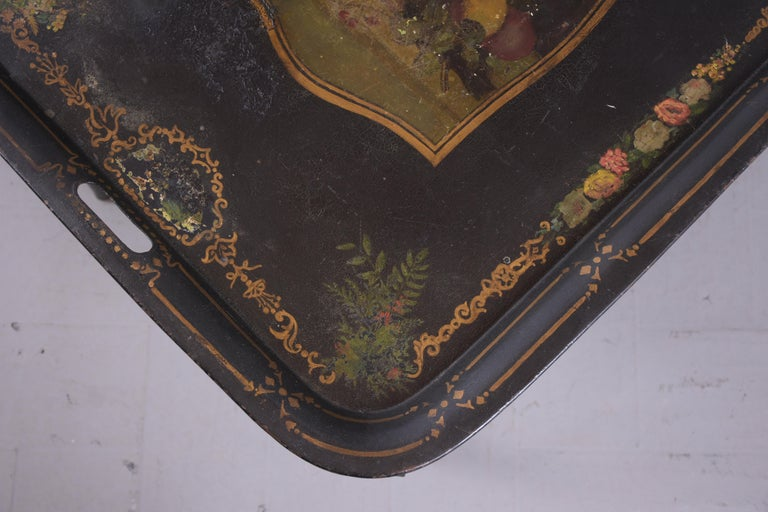 Antique Tole Tray Table For Sale 7