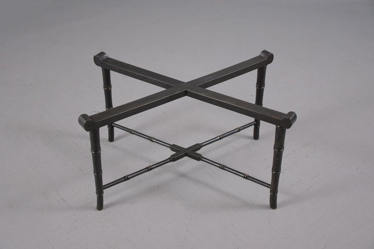 19th Century Antique Tole Tray Table For Sale