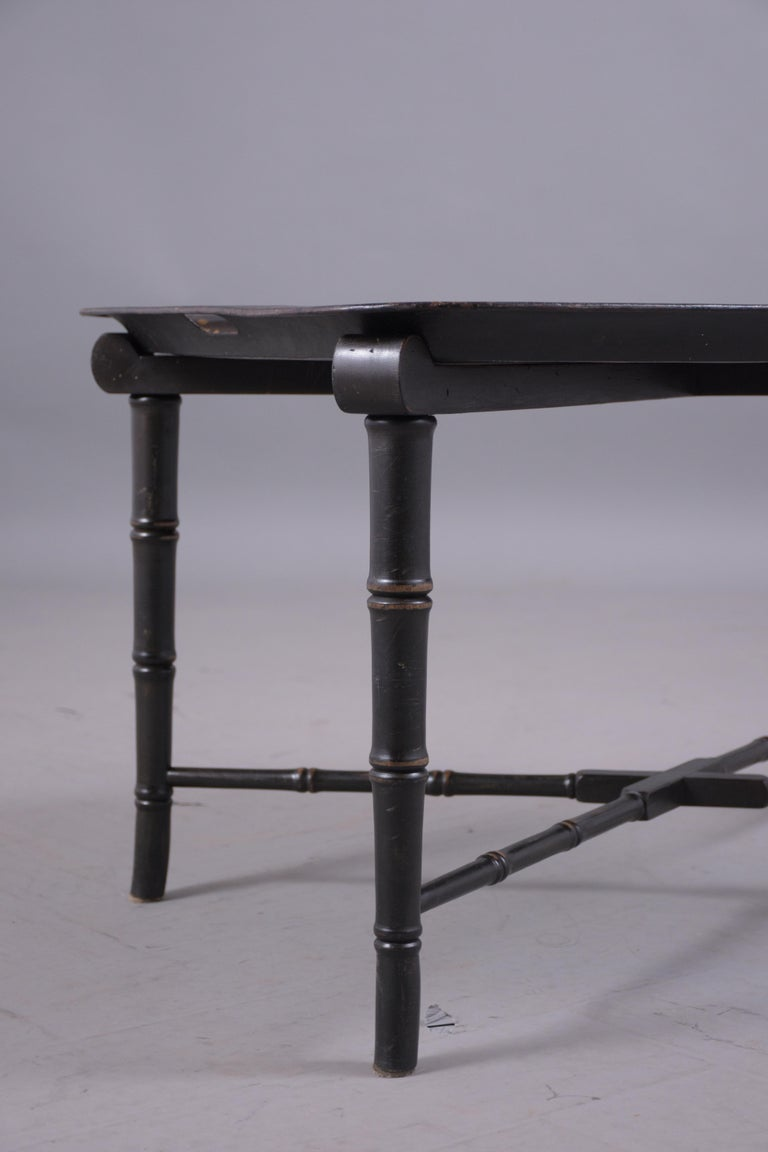 Antique Tole Tray Table For Sale 2