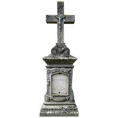 Antique Tombstone from France, 19th Century