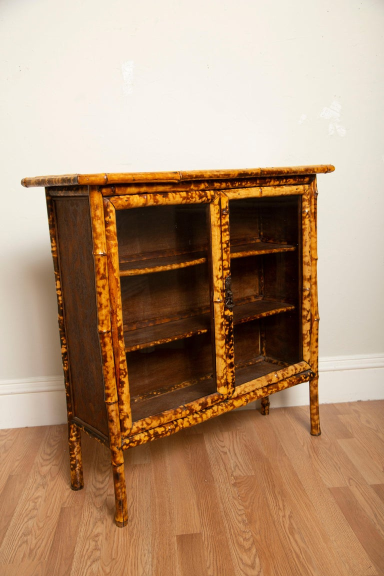Antique Tortoise Bamboo Cabinet For Sale at 1stdibs