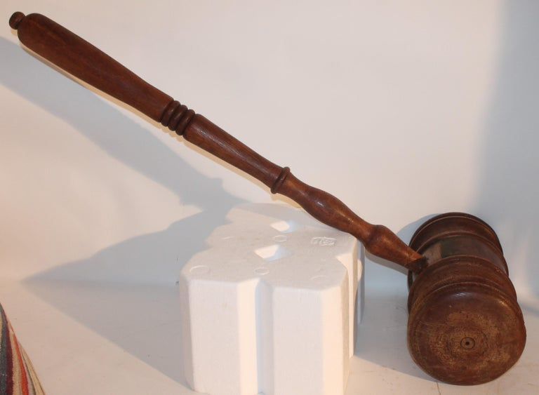 Country Antique Trade Sign Gavel or Presentation Piece For Sale