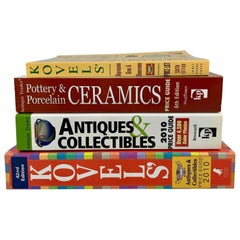 Antique Trader & Kovel Price Guide Books Ceramics, Glass, Collectibles, Set of 4