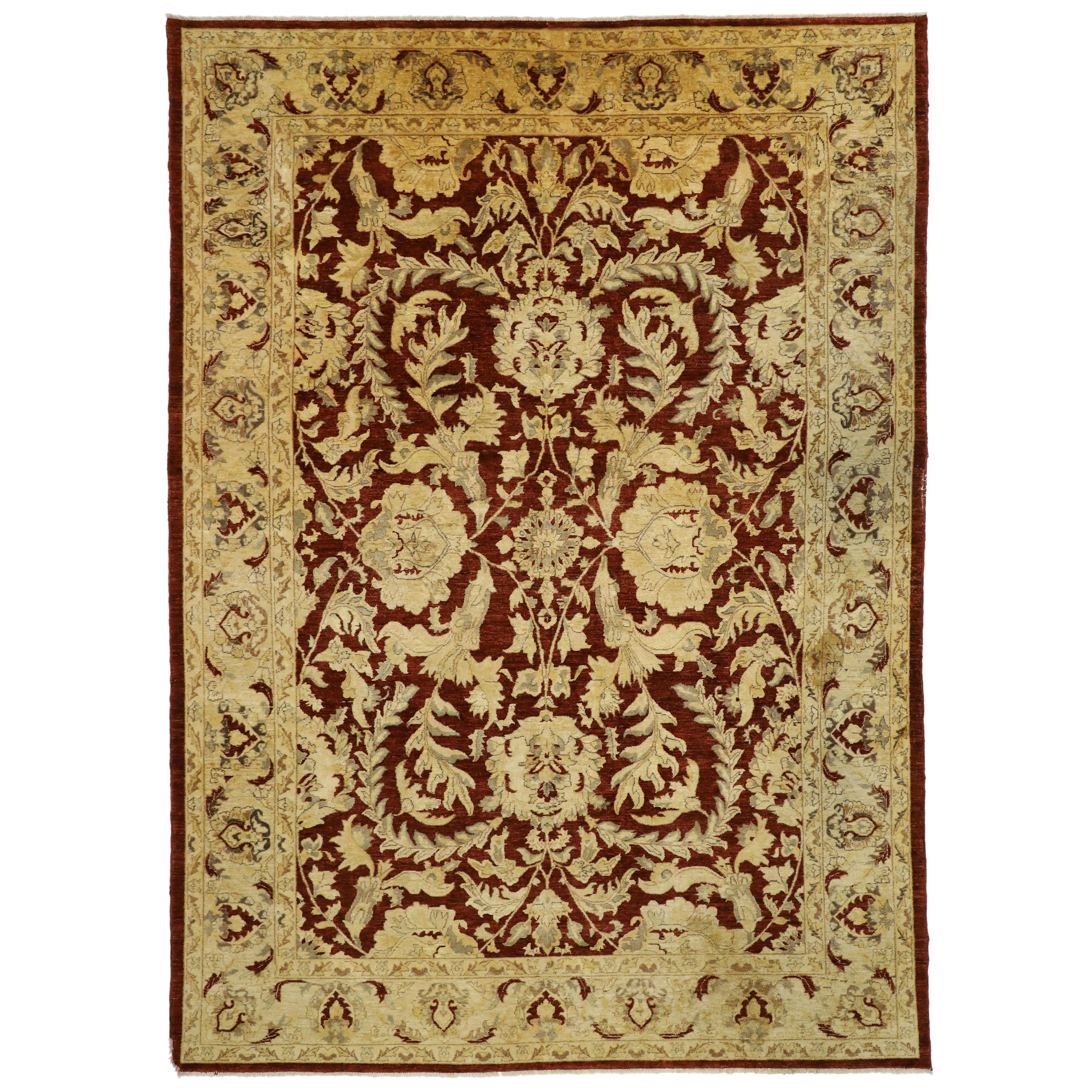 Antique Traditional Indian Area Rug with Persian Design and Luxe Baroque Style