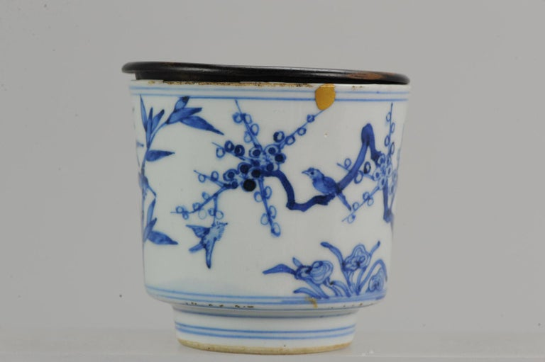 Antique Transitional Period Chinese Bowl Cup Three friends of Winter Marked For Sale 5