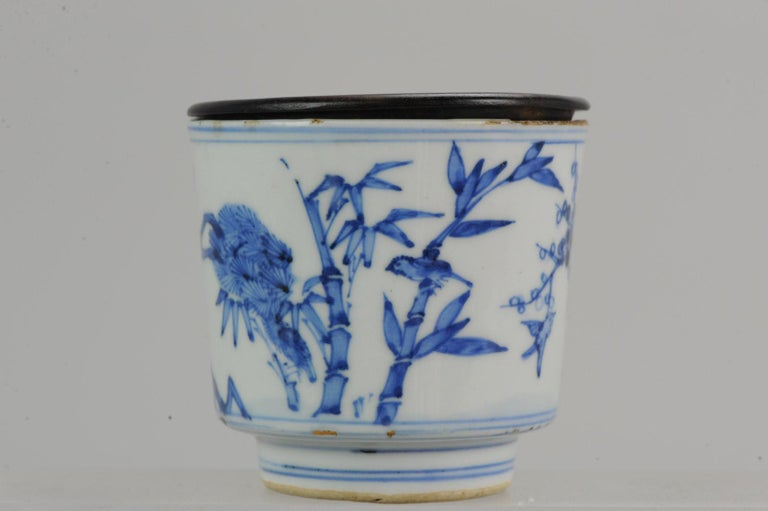Antique Transitional Period Chinese Bowl Cup Three friends of Winter Marked For Sale 6