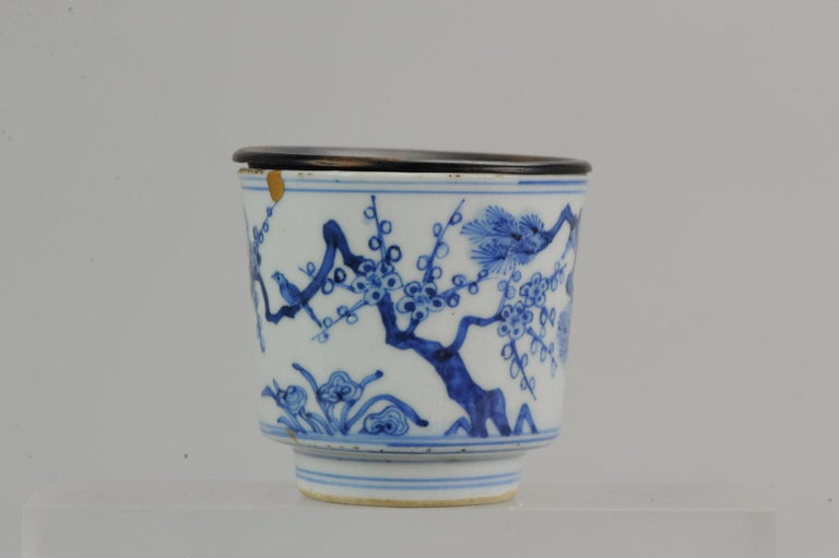 Antique Transitional Period Chinese Bowl Cup Three friends of Winter Marked For Sale 8