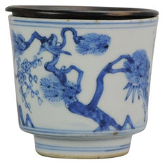 Antique Transitional Period Chinese Bowl Cup Three friends of Winter Marked