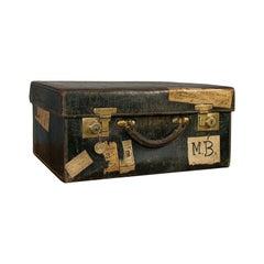 Antique Travel Case, Leather, Salesman's Suitcase, JW Allen, Strand, Edwardian