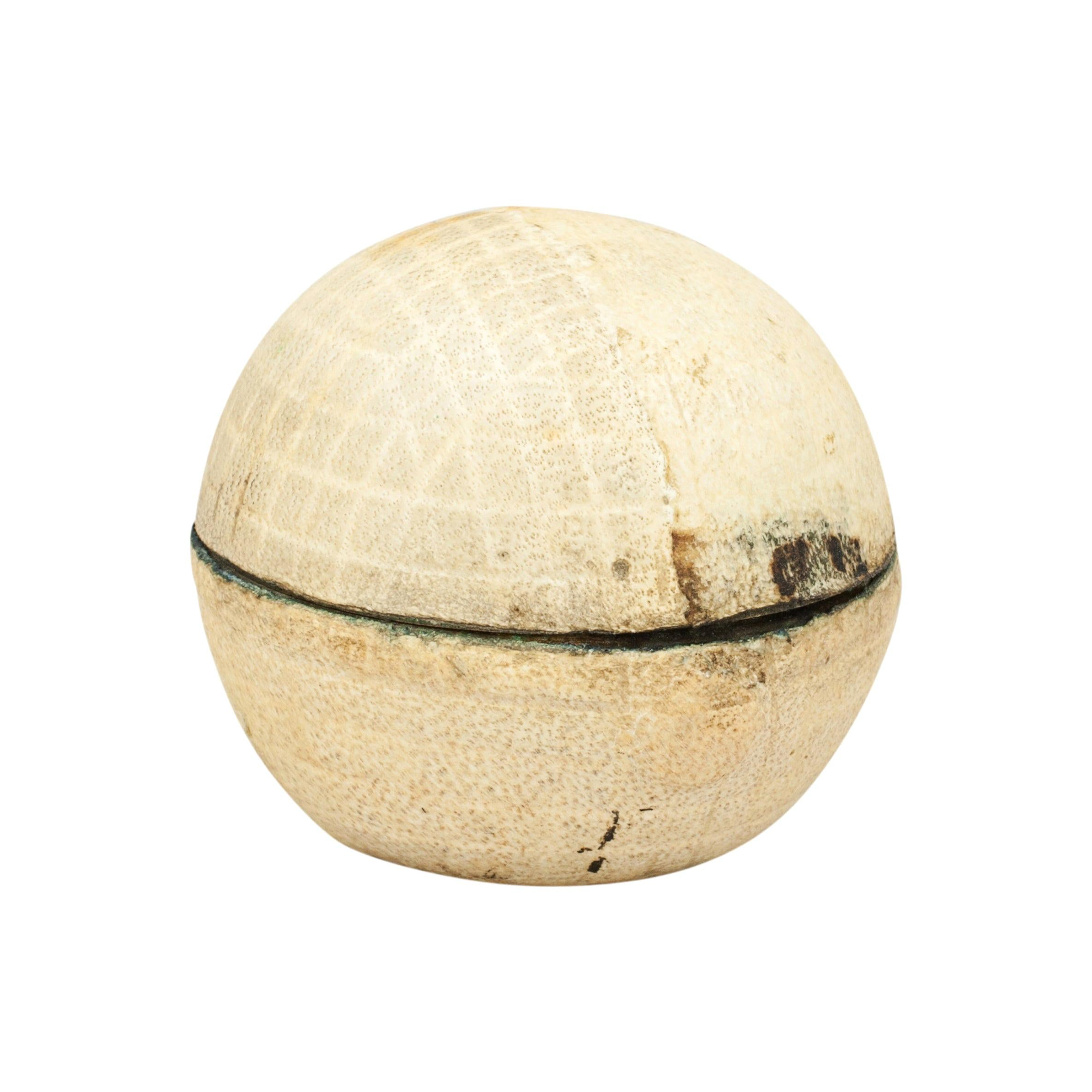 Antique Travelling Golf Ball Inkwell