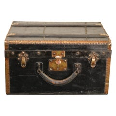 Antique Treasure Chest or Trunk by Au Touriste, France, Early 20th Century