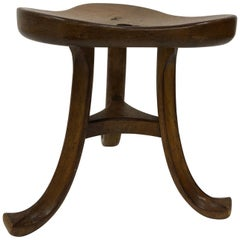 Antique Trefoil Stool