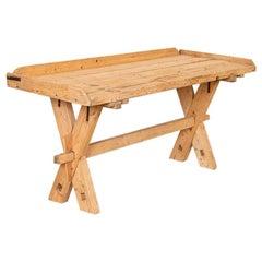 Antique Trestle Farm Table Work Table Desk