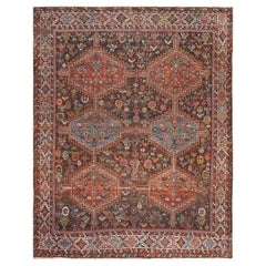 Antique Tribal Afshar Persian Rug