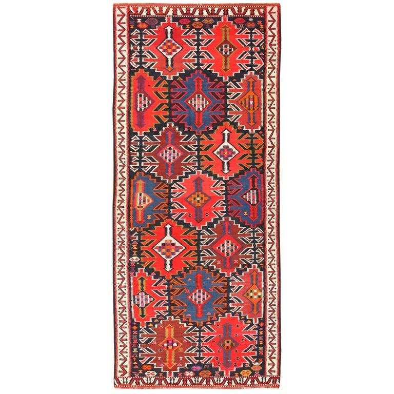 Caucasian Kilim Rug: Antique Tribal Caucasian Kuba Kilim Rug For Sale At 1stdibs