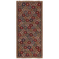Antique Tribal Caucasian Shirvan Kilim Rug