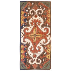 Antique Tribal Kaitag Embroidery Textile. Size: 1 ft 9 in x 3 ft 9 in