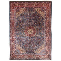 Antique Tribal Medallion Josan Rug with Jewel Tones with Center Medallion