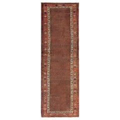Antique Tribal Northwest Persian Runner Rug. Size: 3 ft 4 in x 10 ft 4 in