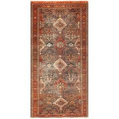 Antique Tribal Persian Bakhtiari Shabby Chic Rug