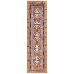 Antique Tribal Persian Bakshaish Runner Rug