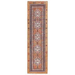 Antique Persian Bakshaish Runner Rug. Size: 3 ft 7 in x 11 ft 5 in
