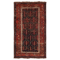 Antique Tribal Persian Kurdish Rug. Size: 5 ft 4 in x 9 ft