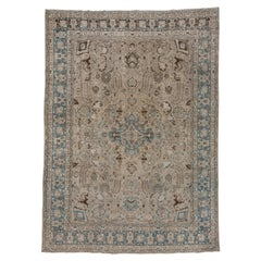 Antique Tribal Persian Tabriz Carpet