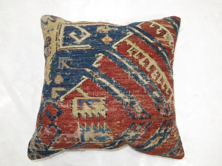 Kilim Antique Tribal Rug Pillow For Sale