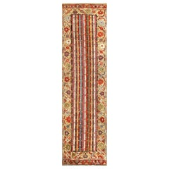 Antique Tribal Turkish Kirshehir Runner Rug. Size: 3 ft 4 in x 12 ft 2 in
