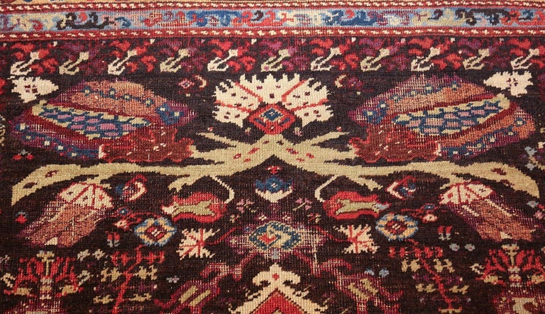Antique Tribal Turkish Kula Rug In Distressed Condition For Sale In New York, NY