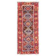 Antique Tribal Turkish Yuruk Rug. Size: 3 ft 4 in x 8 ft 4 in (1.02 m x 2.54 m)
