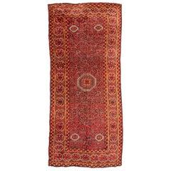 Antique Turkestán Beshir Wool Rug, circa 1900