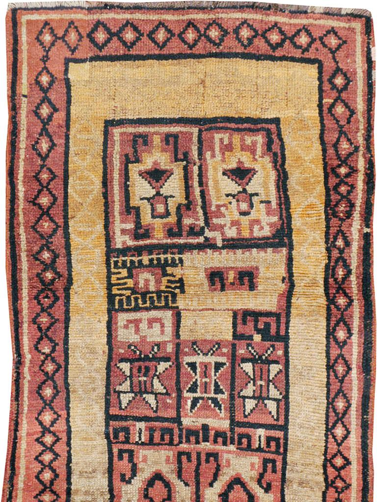 Rustic Antique Turkish Anatolian Tribal Rug For Sale