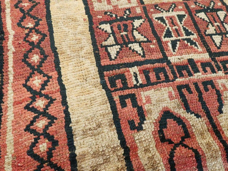 Antique Turkish Anatolian Tribal Rug In Good Condition For Sale In New York, NY