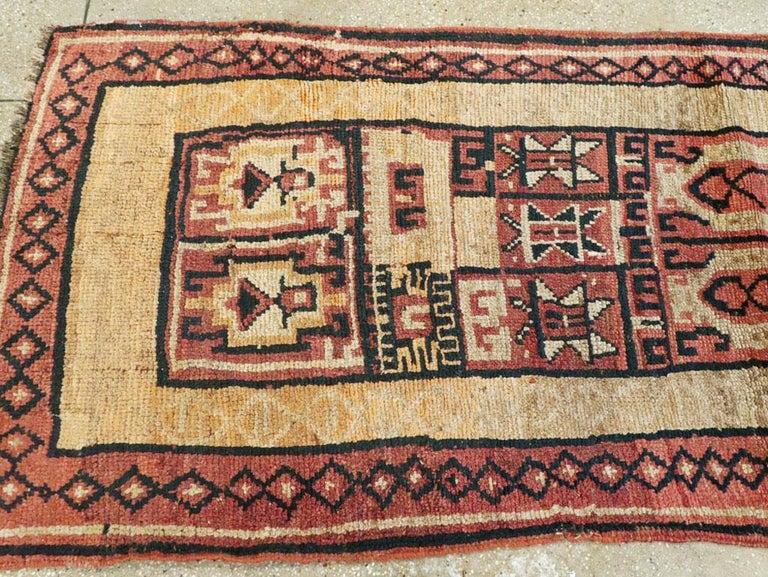 Wool Antique Turkish Anatolian Tribal Rug For Sale
