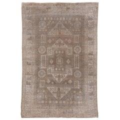 Antique Turkish Bergama Carpet, Soft Tones
