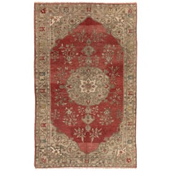 Antique Turkish Bergama Rug, One of a Kind Wool Carpet, circa 1920
